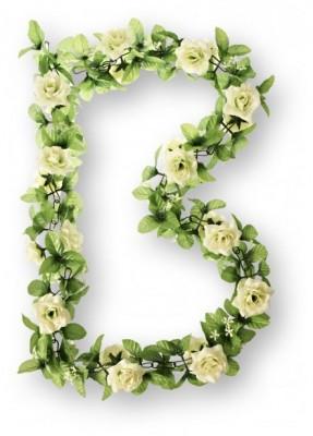 Blumengirlande Rosen, weiss