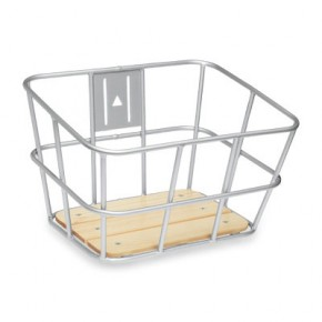 Electra Alloy-Wood Front Basket silver