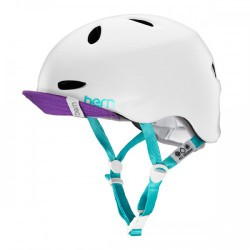 Bern Helm Berkeley satin white multi color w/flip visor