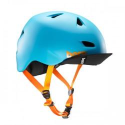 Bern Brentwood matte bright blue w/ flip visor