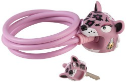 Kabelschloss Crazy Safety Pink Leopard