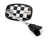 Handlebar Mirror Black Checkerboard