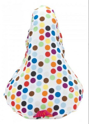 Sattelbezug Liix Polka Big Dots Mix white