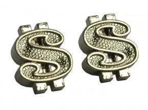 Valve Caps Dollar, silver