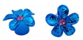 Valve Caps Blossom, blau