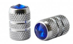 Valve Caps Diamant Schraube, blau