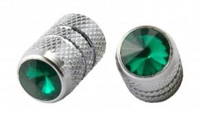 Valve Caps Diamant Schraube, grün