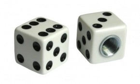 Valve Caps Dice white