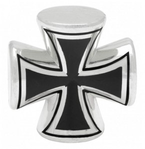 Valve Caps Iron Cross 3-D, chrome