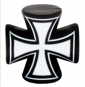 Valve Caps Iron Cross 3-D, black