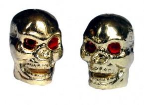 Valve Caps Skull gold