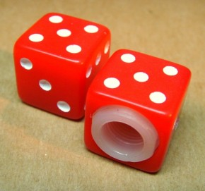 Valve Caps Dice red