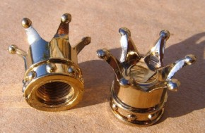 Valve Caps Crown, gold